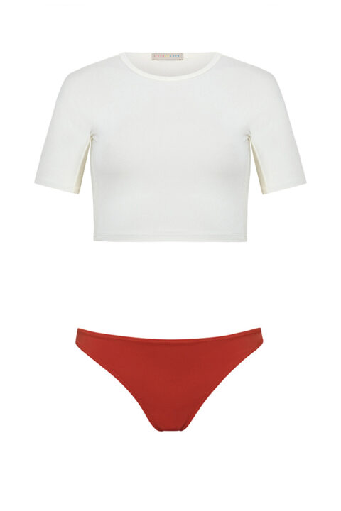 Surf shirt crop top - tejido reciclado - Ilovebelove