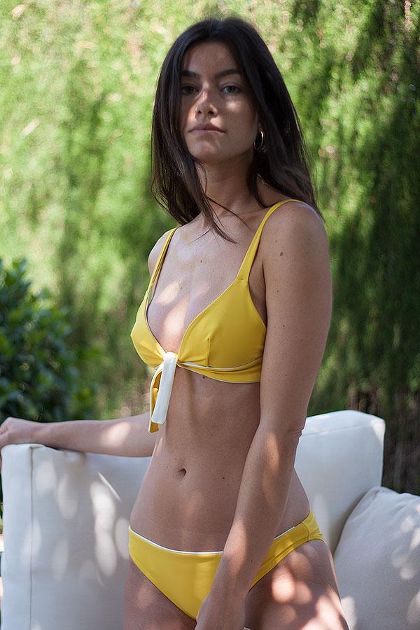 Knotted Yellow Bikini - ILOVEBELOVE