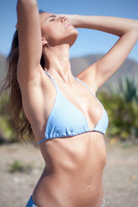 Bikini celeste triángulo braguita lazos- ILOVEBELOVE