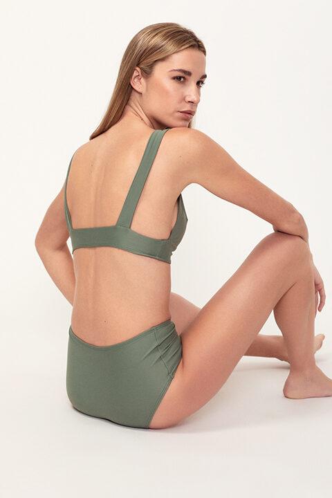 Bikini verde Comfy - Braguita alta - ILOVEBELOVE