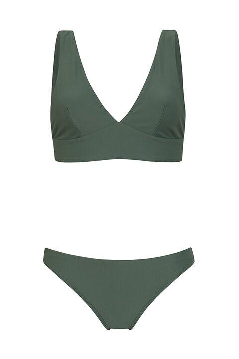 Bikini verde Comfy - Braguita baja - ILOVEBELOVE